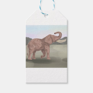 A savannah elephant pack of gift tags