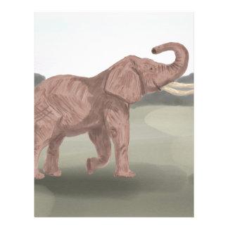 A savannah elephant personalized letterhead