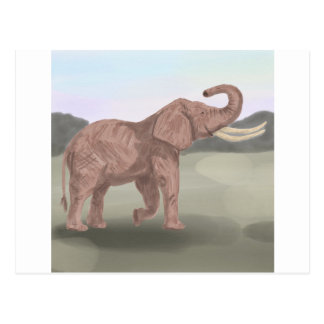 A savannah elephant postcard
