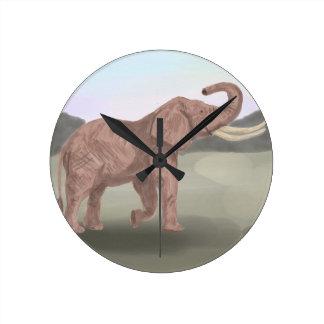 A savannah elephant wall clock