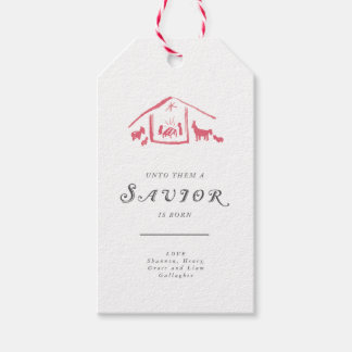 A Savior Is Born Holiday Gift Tags - Winterberry Pack Of Gift Tags