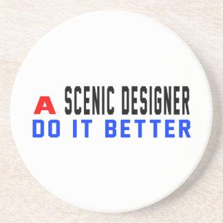 A Scenic designer Do It Better Drink Coaster