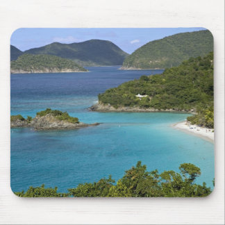 A scenic of Caneel Bay from a road at St. John Mouse Pad