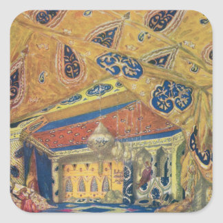 A Scheherazade Salon Square Sticker