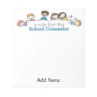 A School Counselor's Custom Notepad