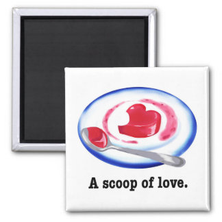 A scoop of love. square magnet