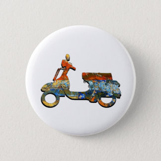 A SCOOTING ALONG 2 INCH ROUND BUTTON