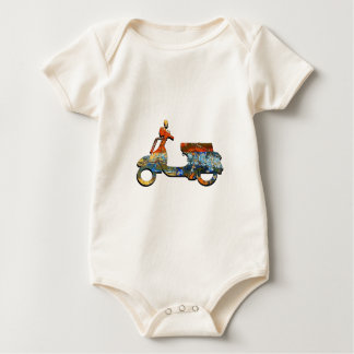 A SCOOTING ALONG BABY BODYSUIT