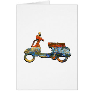 A SCOOTING ALONG CARD