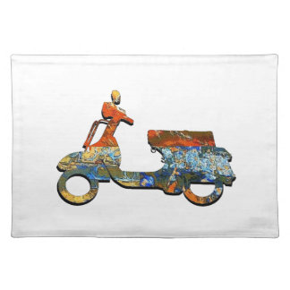 A SCOOTING ALONG PLACEMAT