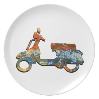A SCOOTING ALONG PLATE