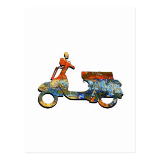 A SCOOTING ALONG POSTCARD