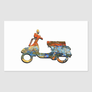 A SCOOTING ALONG STICKER