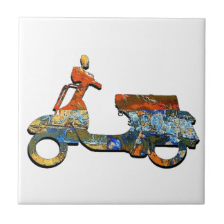A SCOOTING ALONG TILE