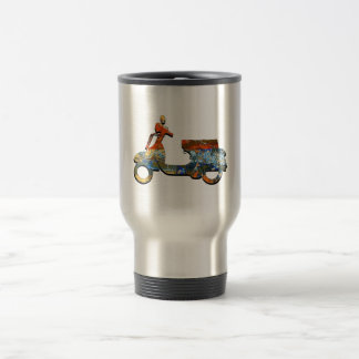 A SCOOTING ALONG TRAVEL MUG