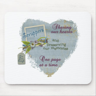 A scrappers heart mouse pad