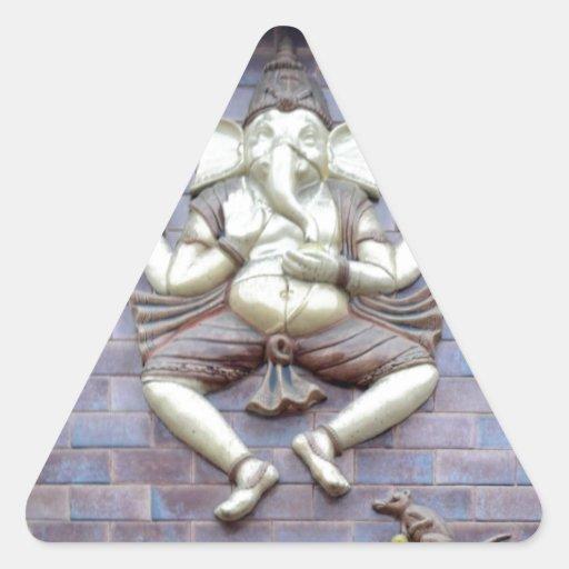 A sculpture of Hindu God Ganesha Sticker