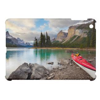 A sea kayak ashore at Spirit Island Cover For The iPad Mini