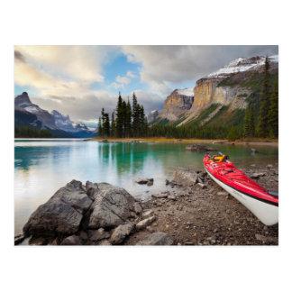 A sea kayak ashore at Spirit Island Postcard