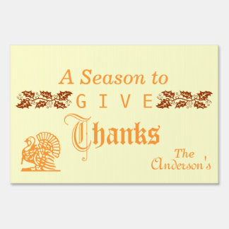 A season to give thanks sign