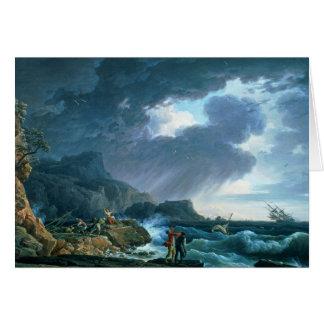 A Seastorm, 1752 Card