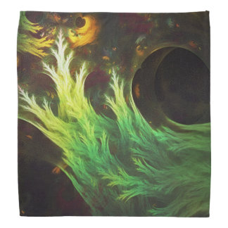 A Seaweed's DeepDream of Faded Fractal Fall Colors Bandana