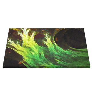 A Seaweed's DeepDream of Faded Fractal Fall Colors Canvas Print