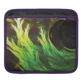 A Seaweed's DeepDream of Faded Fractal Fall Colors iPad Sleeve