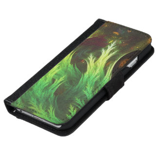 A Seaweed's DeepDream of Faded Fractal Fall Colors iPhone 6 Wallet Case