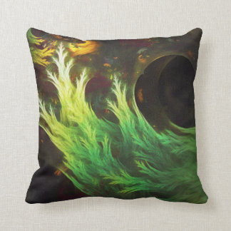A Seaweed's DeepDream of Faded Fractal Fall Colors Throw Pillow