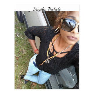 A selfie of Daysha Nichole, postcard