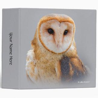 A Serene Barn Owl Vinyl Binder