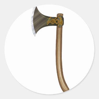 A sharp ax classic round sticker