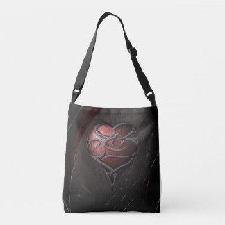 a sharp heart crossbody bag