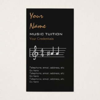 A-Sharp Music Tutor Appointment Business Cards