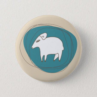 A sheep in ovals 2 inch round button