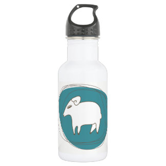 A sheep in ovals 532 ml water bottle