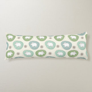 A sheep in ovals body pillow