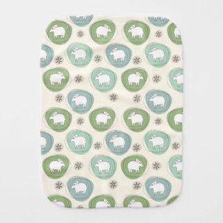A sheep in ovals burp cloth