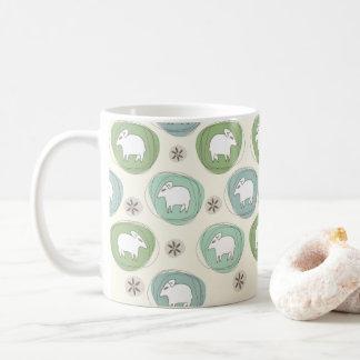 A sheep in ovals coffee mug