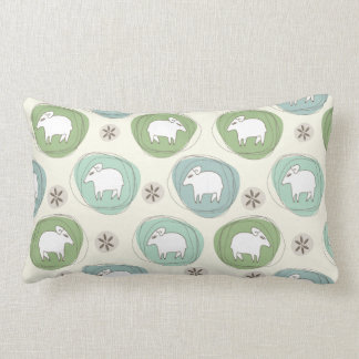A sheep in ovals lumbar pillow