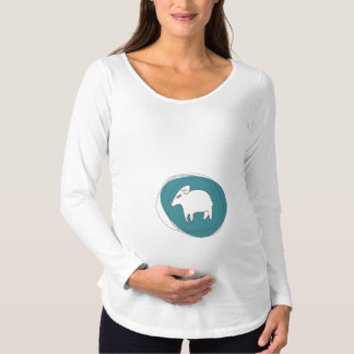 A sheep in ovals maternity T-Shirt