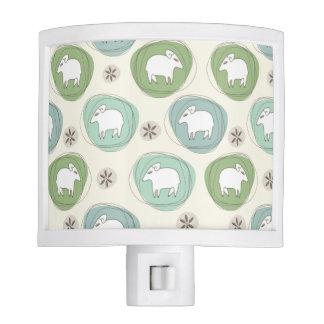 A sheep in ovals nite light