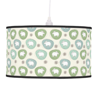 A sheep in ovals pendant lamp