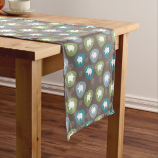 A sheep in ovals short table runner