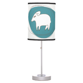 A sheep in ovals table lamp