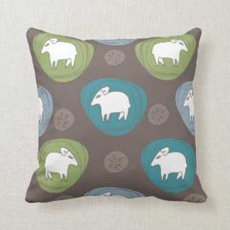 A sheep in ovals throw pillow