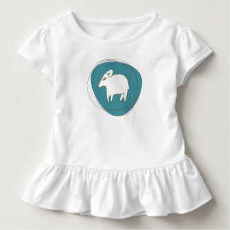 A sheep in ovals toddler t-shirt