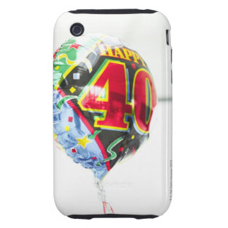 a shiny birthday message helium balloon held up tough iPhone 3 covers