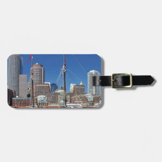 A Ship in Boston Harbor Luggage Tag